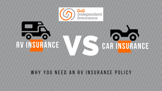 RV insurance vs Car insurance