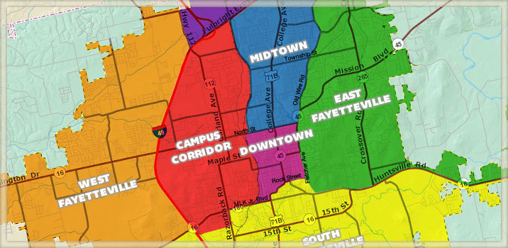 Fayetteville Districts